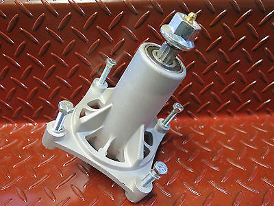 """2 x ride on mower deck spindle W/ BOLTS suit Husqvarna 38' - 54"""" cut 4 bolt"""