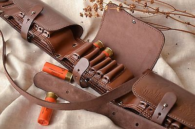 Closed Leather Bandolier Of Brown Color