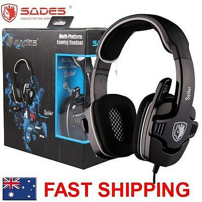 SADES SPIDER 922 PC XBOX ONE Universal Gaming Headset Microphone Chat Genuine