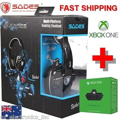 SADES SPIDER 922 PC PS3 PS4 XBOX ONE Gaming Headset Microphone Chat Genuine USB
