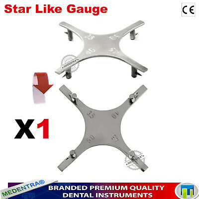 Star Like Positioning Bracket Gauge Orthodontic Instruments Dental Lab Gauges