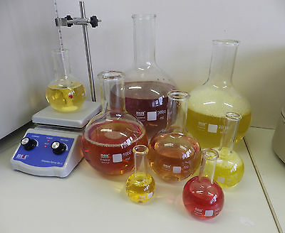 Flat-Bottom Round Flasks - borosilicate glass - boiling flasks - 50 to 3000 ml