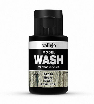Vallejo Model Wash - Model Weathering - Black 35Ml - 76518