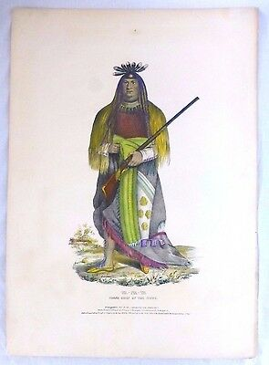 WA-NA-TA Grand Chief of the Sioux folio lithograph. McKenney & Hall. 1836