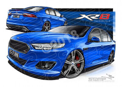 Xr8 Fg X Xr8 Falcon Fgx Xr8 Kinetic Blue  Stretched Canvas (Ft372)