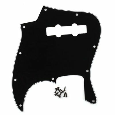 3Ply Black Jazz Bass JB Pickguard 3Ply 10Hole For style Guitar