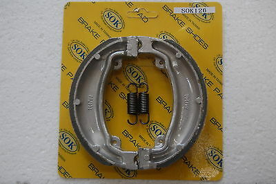 FRONT BRAKE SHOES+SPRINGS fits HONDA CH 250 Elite, 85-90 CH250