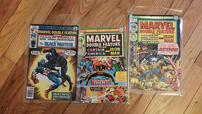 Marvel Double Feature #2, 3, 21 lot