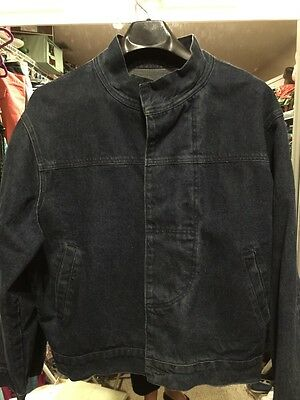 Mens Red Street By Levi Sz M Dark Wash Denim Jacket.