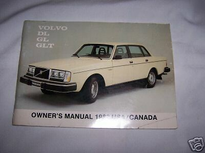 Volvo GLE owners Manual 1982