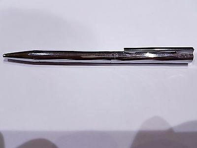 WATERMAN GRADUATE? Chrome stainless steel 12.5cm ballpoint unused dried filling