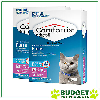 Comfortis For Cats 1.4-2.7kg Pink 6 Tablets