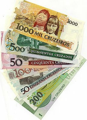 BRAZIL South America set of 7 notes UNC