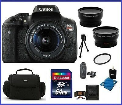 Canon EOS Rebel T6i DSLR Camera with 18-55mm Lens 64GB Bundle - Canon Dealer