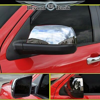 2008-2019 TOYOTA SEQUOIA Chrome Mirror Covers Non Towing 2pc. L/R *TOP HALF*