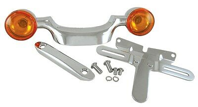 TURN SIGNAL BAR and LICENSE PLATE RELOCATION KIT FOR BIG TWIN Rpl HD 53702-04A