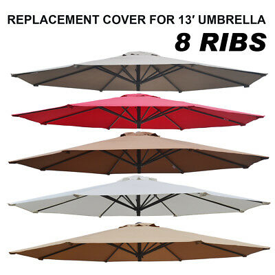 8 Ft 10 Ft Patio Umbrella Cover Canopy 8 Ribs Replacement Parasol