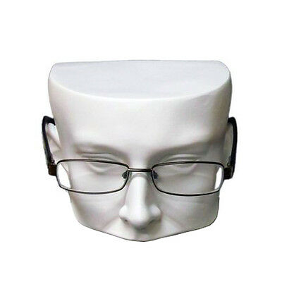 MN-510 WHITE Half Face Sunglasses/Eyeglasses Mannequin Head Display 1 PC ONLY