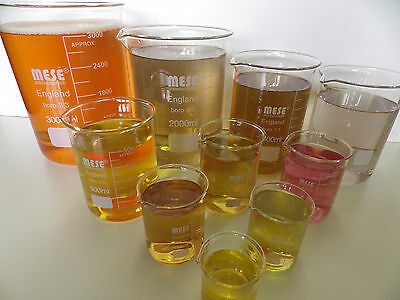 Borosilicate Glass Beakers 50, 100, 150, 200, 250, 500, & 800ml, 1, 2, & 3L