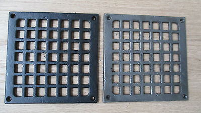 Traditional Square Victorian Vintage Cast Iron Air Vent Air Brick Grille Cover