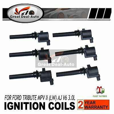 6 x Ignition Coils Mazda Tribute MPV LW Mercury Ford Escape BA ZA ZB ZC V6 3.0L