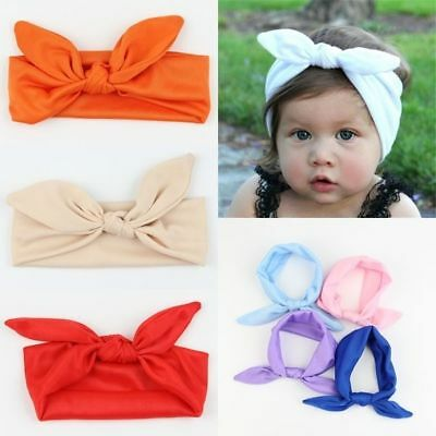 Baby Headband Toddler Cute Girl Kid Bow Hairband Knot Rabbit Turban Headwear TOP