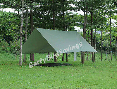 Double Hammock Tent Camping/Backpacking Rainfly Tarp Army Green with stuff sack