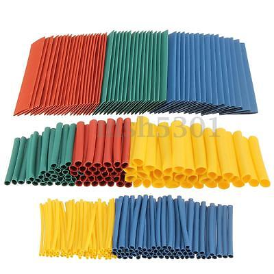 260pcs Assortment Ratio 2:1 Heat Shrink Tubing Tube Sleeving Wrap Wire Kit 8Size