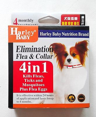 Anti Flea & Tick Collar for Dogs 4 Months Protection Adjustable Length 23-36cm