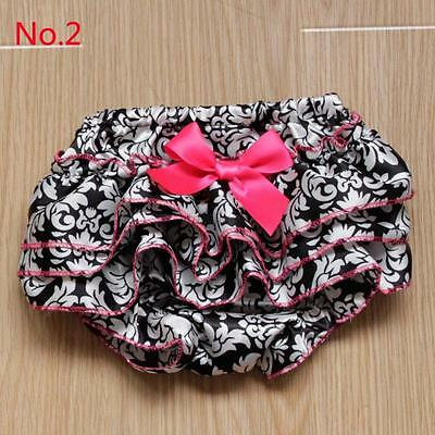 Newborn Girls Satin Ruffle PP Pants Toddler Kids Bloomers Shorts Nappy Cover T56