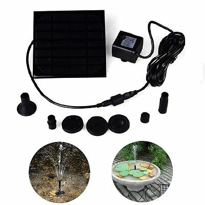 Solar Powered Garden Water Fountain and Pump - GorillaSpoke, Free P&P Worldwide
