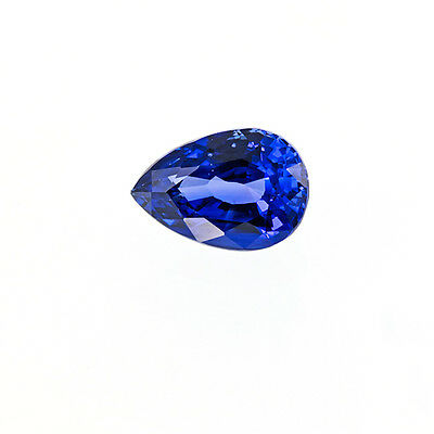 Lab Created Synthetic Light Blue Sapphire Color Pear Loose Stones (5x3 to 16x12)