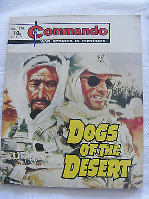 """Commando Comic War Stories In Pictures # 1270  """"dogs Of The Desert"""" 1978"""
