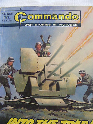 """Commando Comic War Stories In Pictures # 1336  """"into The Trap"""" 1979"""