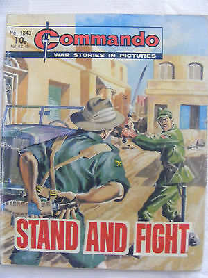 """Commando Comic War Stories In Pictures # 1343  """"stand & Fight"""" 1979"""