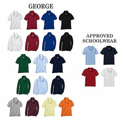 Boy's School Uniform Polo Shirts, Choose Brand/Color/Size, U2/5CS