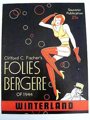 """1944 """"Folies Bergere"""" Program in San Francisco by Clifford C Fisher *"""