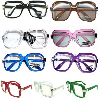Oversized Hip Hop Glasses (Choose Your Color)  Rapper Run DMC Gazelle Rap 80's