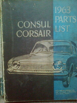 Ford Consul Corsair Illustrated  Parts List 1963