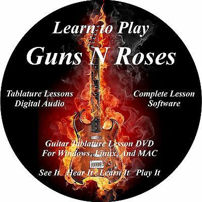 Guns and Roses Guitar TABS Lesson CD 128 Songs + Backing Tracks + BONUS!