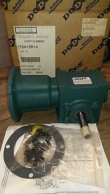 Nsop Dodge Tigear 2 Right Angle Worm Gear Speed Reducer 176A15R14 15:1 1.27 Hp