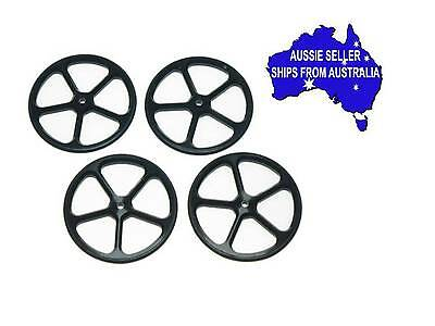 Black Alloy 1:10 RC Set Up Wheels for touring or drift car, suit Tamiya Sakura