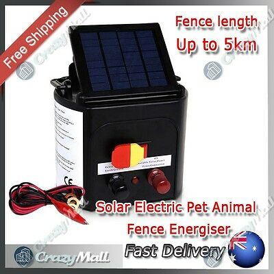 5km Solar Power Farm Electric Fence Energiser Charger Goat Horse