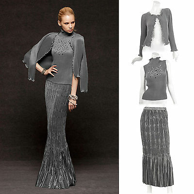 Formal Party prom jacket Sequined top Mermaid skirt suit 3PC womens suits