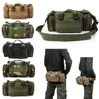 Military Tactical Waist Pack Outdoor Shoulder Molle Pouch Bag Camping Hiking