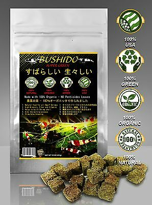 CRYSTAL RED SHRIMP CHERRY BEE FOOD BUSHIDO 100% Organic NO Pesticides Cube