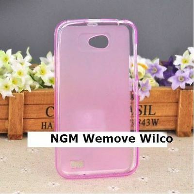 2 x COVER COVER PINK FOR NGM /Wemove Wilco SILICONE TPU SOFT HIGH QUALITY 2 pezz