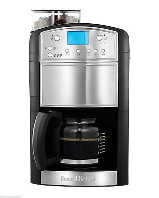 Russell Hobbs 14899 Platinum Grind and Brew Coffee Maker Machine 1.25 Litre