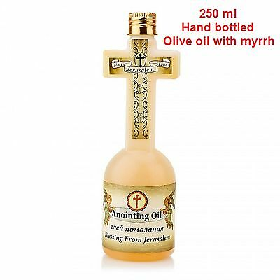 Exclusive cross shaped bottle blessed anointing oil Myrrh scented from Jerusalem