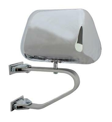 Towing Swingaway Mirror Single Low Mount Fit LH / RH Chrome Light Commercial Ute